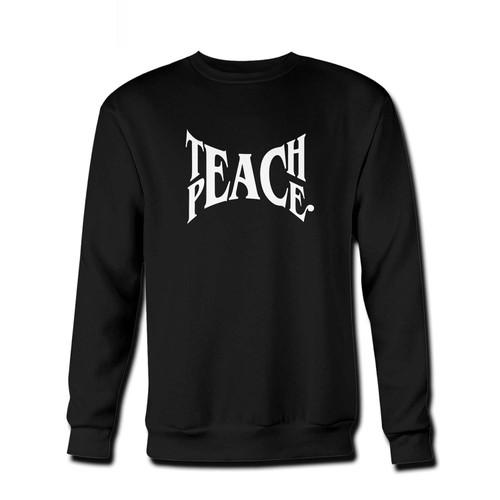 Your Teach Peace Activist Fresh Best Crewneck Sweatshirt just got an update. This super comfortable and lighter weight crewneck will become your favorite go-to sweatshirt. The cozy spandex cuffs and waistband make this pill-resistant sweatshirt a fan favorite.And your group will look and feel their best in this premium ringspun cotton crew.