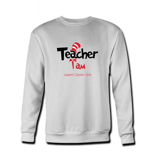 Your Teacher I Am Dr Seuss Logo Fresh Best Crewneck Sweatshirt just got an update. This super comfortable and lighter weight crewneck will become your favorite go-to sweatshirt. The cozy spandex cuffs and waistband make this pill-resistant sweatshirt a fan favorite.And your group will look and feel their best in this premium ringspun cotton crew.