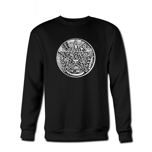 Your Tetragrammaton Pentagram Fresh Best Crewneck Sweatshirt just got an update. This super comfortable and lighter weight crewneck will become your favorite go-to sweatshirt. The cozy spandex cuffs and waistband make this pill-resistant sweatshirt a fan favorite.And your group will look and feel their best in this premium ringspun cotton crew.