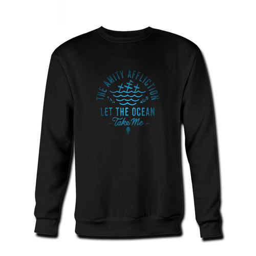 Your The Amity Affliction Let The Ocean Take Me Logo Fresh Best Crewneck Sweatshirt just got an update. This super comfortable and lighter weight crewneck will become your favorite go-to sweatshirt. The cozy spandex cuffs and waistband make this pill-resistant sweatshirt a fan favorite.And your group will look and feel their best in this premium ringspun cotton crew.