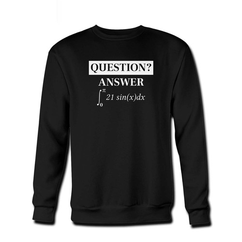 Your The Answer Is 42 Fresh Best Crewneck Sweatshirt just got an update. This super comfortable and lighter weight crewneck will become your favorite go-to sweatshirt. The cozy spandex cuffs and waistband make this pill-resistant sweatshirt a fan favorite.And your group will look and feel their best in this premium ringspun cotton crew.