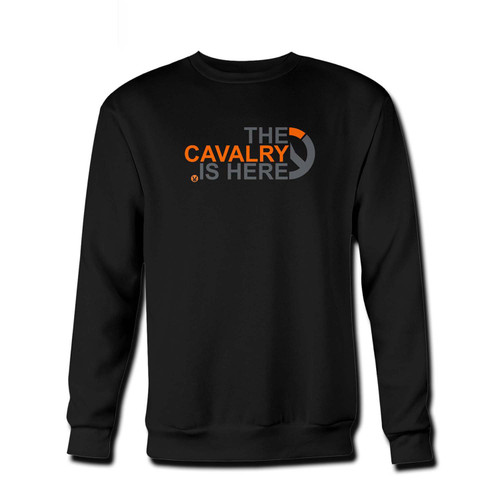 Your The Cavalrys Here! Overwatch T-Shirt Fresh Best Crewneck Sweatshirt just got an update. This super comfortable and lighter weight crewneck will become your favorite go-to sweatshirt. The cozy spandex cuffs and waistband make this pill-resistant sweatshirt a fan favorite.And your group will look and feel their best in this premium ringspun cotton crew.