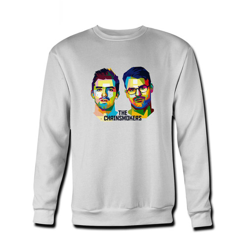 Your The Chainsmokers Vector Art Fresh Best Crewneck Sweatshirt just got an update. This super comfortable and lighter weight crewneck will become your favorite go-to sweatshirt. The cozy spandex cuffs and waistband make this pill-resistant sweatshirt a fan favorite.And your group will look and feel their best in this premium ringspun cotton crew.