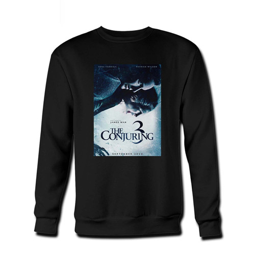 Your The Conjuring 3 The Devil Made Me Do It Fresh Best Crewneck Sweatshirt just got an update. This super comfortable and lighter weight crewneck will become your favorite go-to sweatshirt. The cozy spandex cuffs and waistband make this pill-resistant sweatshirt a fan favorite.And your group will look and feel their best in this premium ringspun cotton crew.