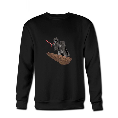Your The Darth Vader King Fresh Best Crewneck Sweatshirt just got an update. This super comfortable and lighter weight crewneck will become your favorite go-to sweatshirt. The cozy spandex cuffs and waistband make this pill-resistant sweatshirt a fan favorite.And your group will look and feel their best in this premium ringspun cotton crew.