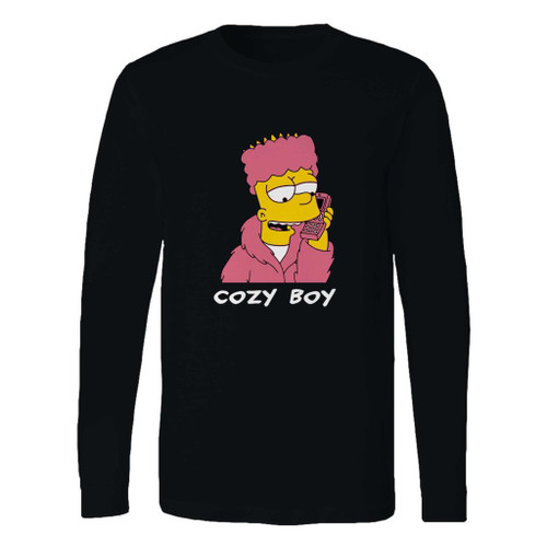 This classic fit bart simpson cozy boy long sleeve shirt is casually elegant and very comfortable. With fine quality print to make one stand out, it's a perfect fit for every occasion.