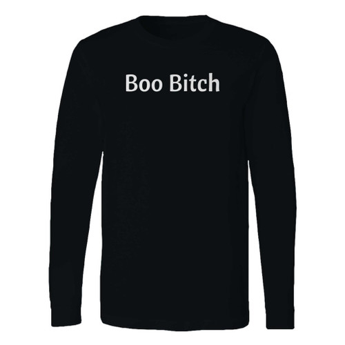 This classic fit boo bitch halloween long sleeve shirt is casually elegant and very comfortable. With fine quality print to make one stand out, it's a perfect fit for every occasion.
