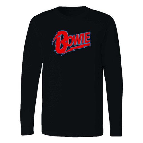 This classic fit david bowie logo long sleeve shirt is casually elegant and very comfortable. With fine quality print to make one stand out, it's a perfect fit for every occasion.