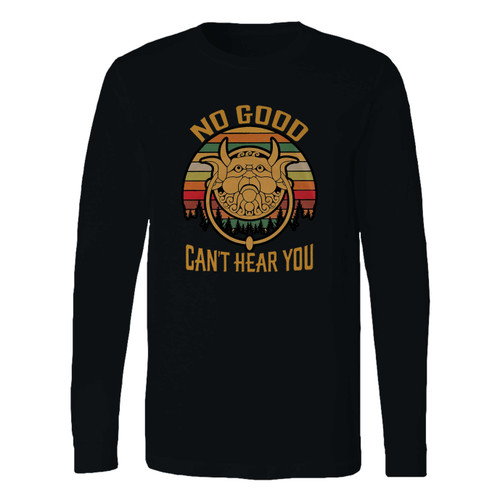 This classic fit labyrinth no good can't hear you vintage long sleeve shirt is casually elegant and very comfortable. With fine quality print to make one stand out, it's a perfect fit for every occasion.