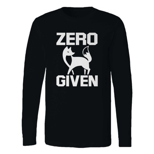This classic fit zero fox given long sleeve shirt is casually elegant and very comfortable. With fine quality print to make one stand out, it's a perfect fit for every occasion.