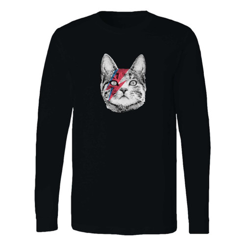 This classic fit ziggy stardust cat david bowie long sleeve shirt is casually elegant and very comfortable. With fine quality print to make one stand out, it's a perfect fit for every occasion.