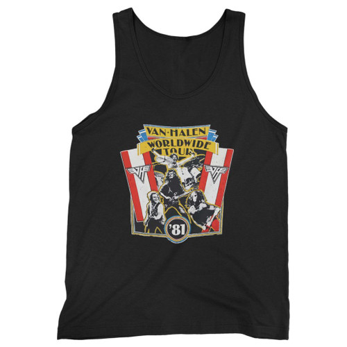 Our cotton 1981 vintage van halen world wide tour men tank top is perfect for those intense workouts in the gym, at practice or pickup games.