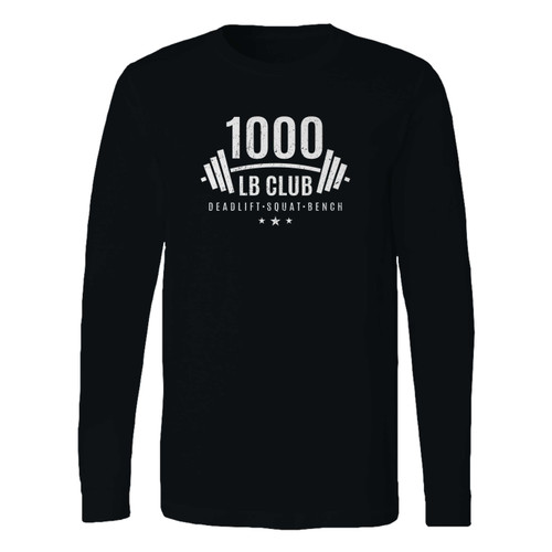 This classic fit 1000 lb club weightlifting long sleeve shirt is casually elegant and very comfortable. With fine quality print to make one stand out, it's a perfect fit for every occasion.