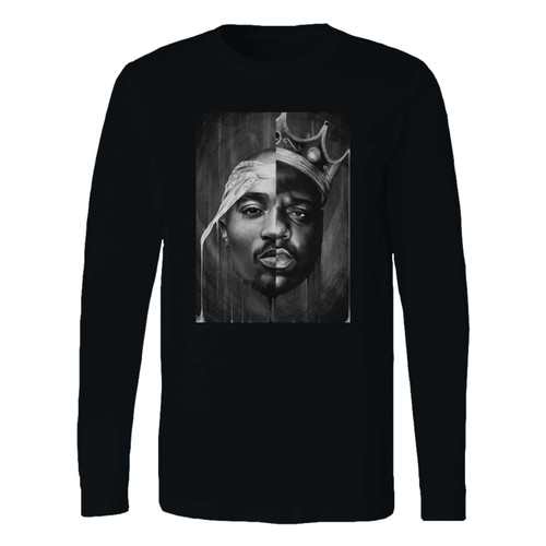 This classic fit 2pac notorious big split face long sleeve shirt is casually elegant and very comfortable. With fine quality print to make one stand out, it's a perfect fit for every occasion.