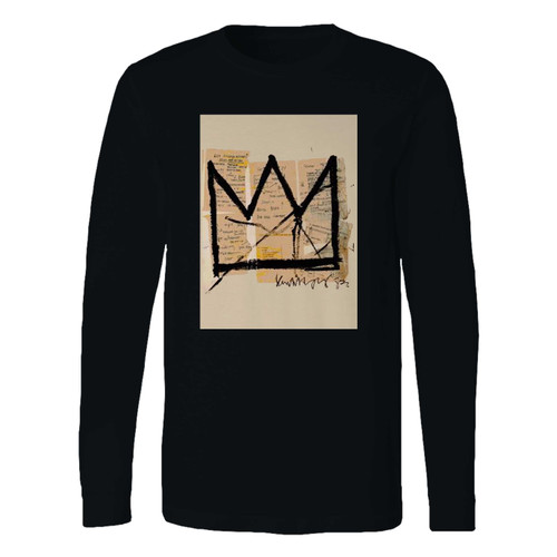 This classic fit basquiat crown jean michel basquiat logo long sleeve shirt is casually elegant and very comfortable. With fine quality print to make one stand out, it's a perfect fit for every occasion.