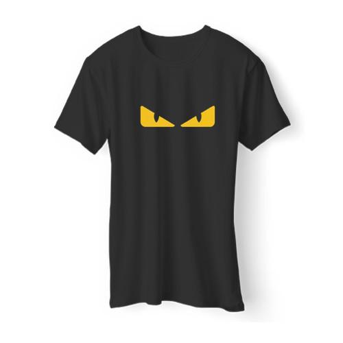 1Fendi Monsters Eye Logo Men T Shirt