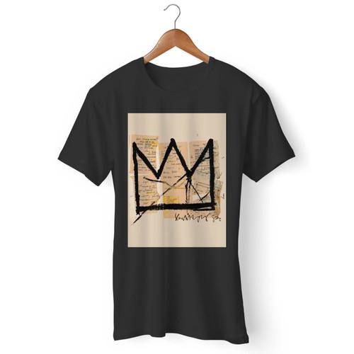 Basquiat Crown Jean Michel Basquiat Logo Men T Shirt