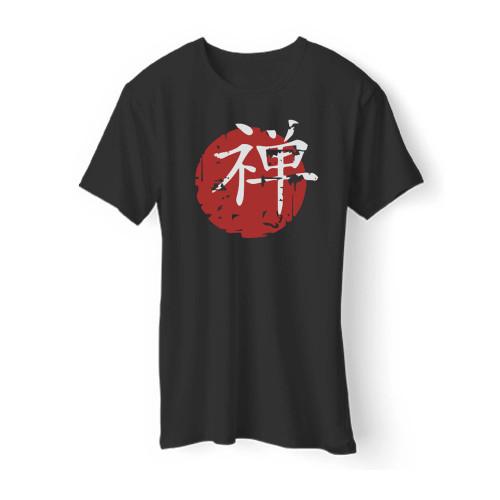 Chinese Japanese Zen Symbol Men T Shirt