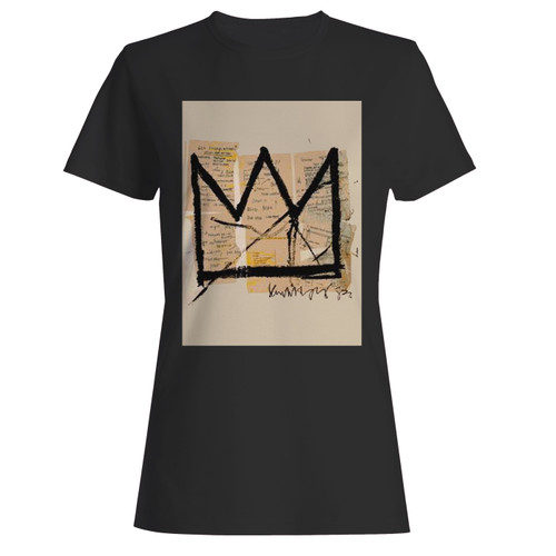 These are basquiat crown jean michel basquiat logo women t shirt that are cute tied to the side or paired with a cardigan or jacket for a more styled look. So comfy and classic, they are sure to make your vacation extra magical.