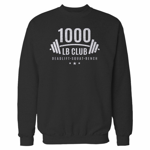Your 1000 lb club weightlifting crewneck sweatshirt just got an update. This super comfortable and lighter weight crewneck will become your favorite go-to sweatshirt. The cozy spandex cuffs and waistband make this pill-resistant sweatshirt a fan favorite.And your group will look and feel their best in this premium ringspun cotton crew.