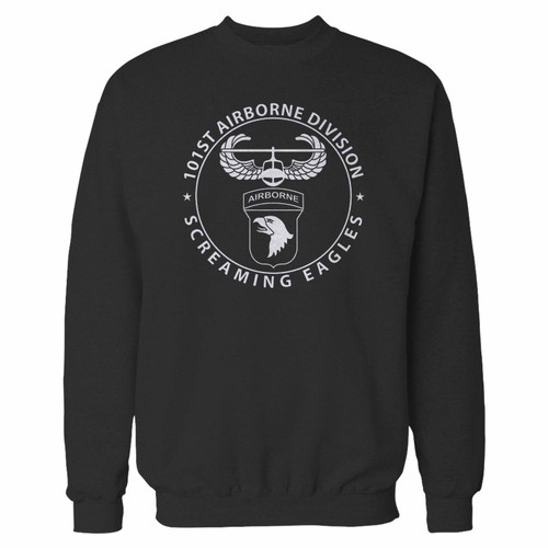 Your 101st airborne division crewneck sweatshirt just got an update. This super comfortable and lighter weight crewneck will become your favorite go-to sweatshirt. The cozy spandex cuffs and waistband make this pill-resistant sweatshirt a fan favorite.And your group will look and feel their best in this premium ringspun cotton crew.