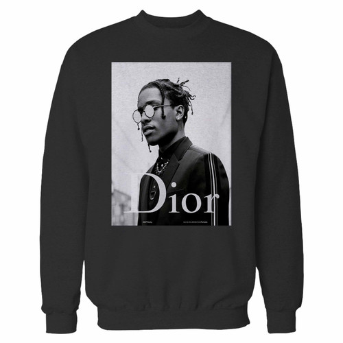 Your asap rocky dior crewneck sweatshirt just got an update. This super comfortable and lighter weight crewneck will become your favorite go-to sweatshirt. The cozy spandex cuffs and waistband make this pill-resistant sweatshirt a fan favorite.And your group will look and feel their best in this premium ringspun cotton crew.