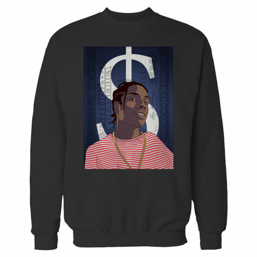 Your asap rocky hip hop music crewneck sweatshirt just got an update. This super comfortable and lighter weight crewneck will become your favorite go-to sweatshirt. The cozy spandex cuffs and waistband make this pill-resistant sweatshirt a fan favorite.And your group will look and feel their best in this premium ringspun cotton crew.