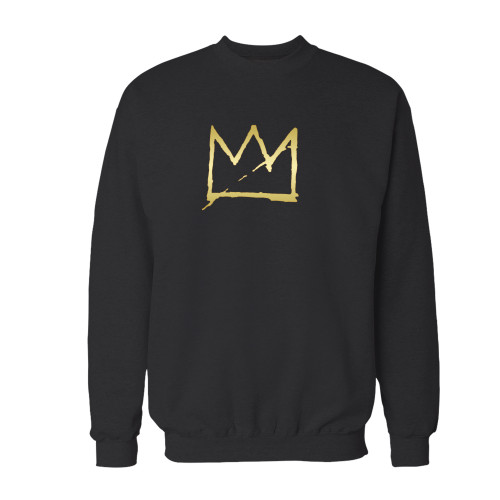 Your basquiat crown jean michel basquiat crewneck sweatshirt just got an update. This super comfortable and lighter weight crewneck will become your favorite go-to sweatshirt. The cozy spandex cuffs and waistband make this pill-resistant sweatshirt a fan favorite.And your group will look and feel their best in this premium ringspun cotton crew.