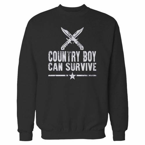 Your country boy can survive crewneck sweatshirt just got an update. This super comfortable and lighter weight crewneck will become your favorite go-to sweatshirt. The cozy spandex cuffs and waistband make this pill-resistant sweatshirt a fan favorite.And your group will look and feel their best in this premium ringspun cotton crew.