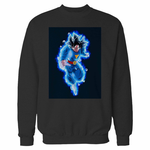 Your dragonball heroes goku ultra instinct crewneck sweatshirt just got an update. This super comfortable and lighter weight crewneck will become your favorite go-to sweatshirt. The cozy spandex cuffs and waistband make this pill-resistant sweatshirt a fan favorite.And your group will look and feel their best in this premium ringspun cotton crew.