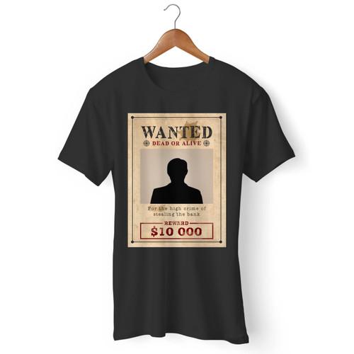 Wanted Poster Men T Shirt