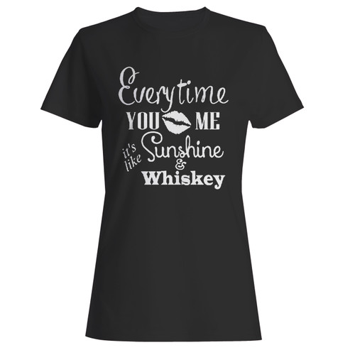 These are everytime you kiss me its like sunshine and whiskey women t shirt that are cute tied to the side or paired with a cardigan or jacket for a more styled look. So comfy and classic, they are sure to make your vacation extra magical.