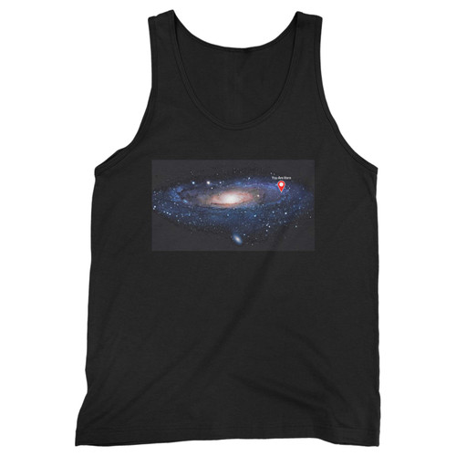 Our cotton you are here galaxy retro solar system men tank top is perfect for those intense workouts in the gym, at practice or pickup games.