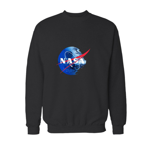 Your star wars galactic empire nasa crewneck sweatshirt just got an update. This super comfortable and lighter weight crewneck will become your favorite go-to sweatshirt. The cozy spandex cuffs and waistband make this pill-resistant sweatshirt a fan favorite.And your group will look and feel their best in this premium ringspun cotton crew.