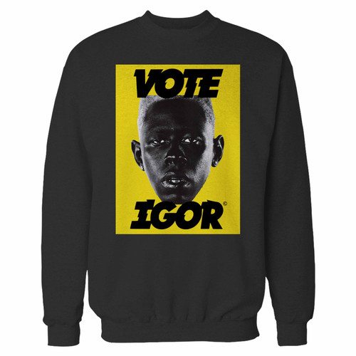Your tyler the creator igor inspired crewneck sweatshirt just got an update. This super comfortable and lighter weight crewneck will become your favorite go-to sweatshirt. The cozy spandex cuffs and waistband make this pill-resistant sweatshirt a fan favorite.And your group will look and feel their best in this premium ringspun cotton crew.