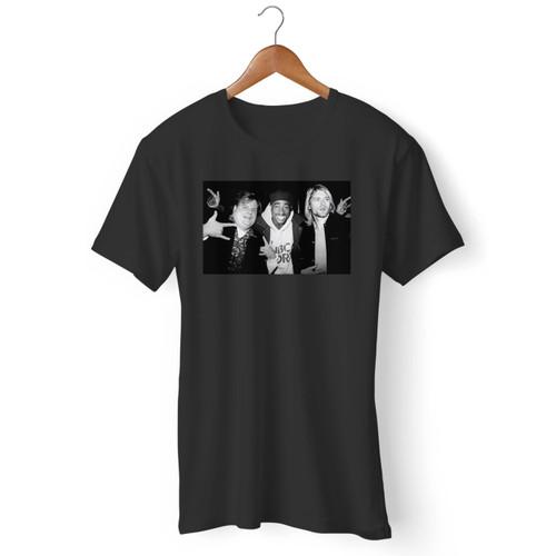 Chris Farley Kurt Cobain 2pac Tupac Hanging Out Men T Shirt