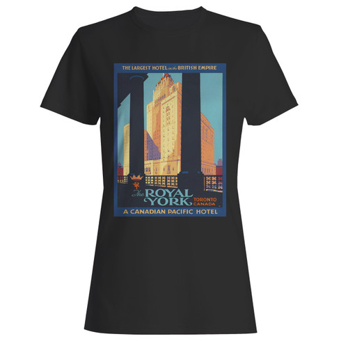 These are 1920's vintage royal york hotel women t shirt that are cute tied to the side or paired with a cardigan or jacket for a more styled look. So comfy and classic, they are sure to make your vacation extra magical.