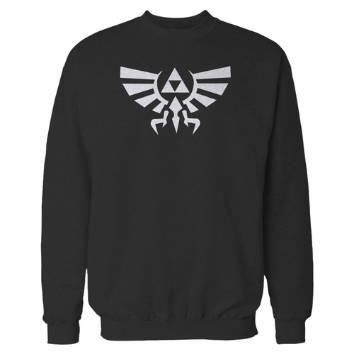 Your zelda symbol legend of zelda gamer video game geek crewneck sweatshirt just got an update. This super comfortable and lighter weight crewneck will become your favorite go-to sweatshirt. The cozy spandex cuffs and waistband make this pill-resistant sweatshirt a fan favorite.And your group will look and feel their best in this premium ringspun cotton crew.