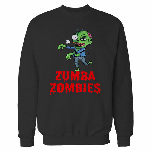 Your zumba zombies crewneck sweatshirt just got an update. This super comfortable and lighter weight crewneck will become your favorite go-to sweatshirt. The cozy spandex cuffs and waistband make this pill-resistant sweatshirt a fan favorite.And your group will look and feel their best in this premium ringspun cotton crew.