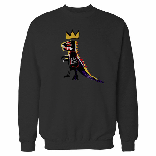 Your basquiat dinosaur crewneck sweatshirt just got an update. This super comfortable and lighter weight crewneck will become your favorite go-to sweatshirt. The cozy spandex cuffs and waistband make this pill-resistant sweatshirt a fan favorite.And your group will look and feel their best in this premium ringspun cotton crew.