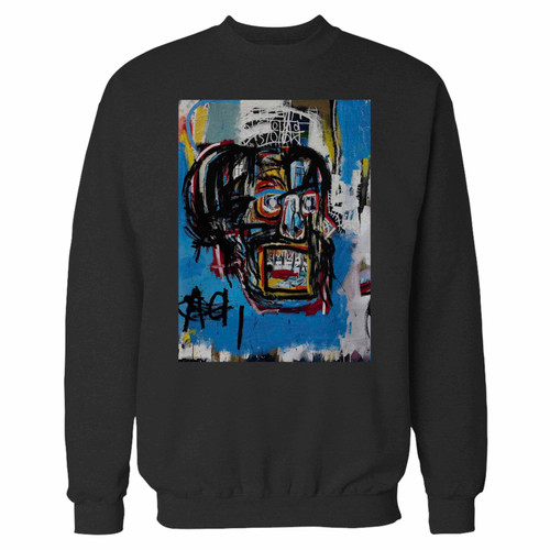 Your jean michel basquiat artist graffiti icon art crewneck sweatshirt just got an update. This super comfortable and lighter weight crewneck will become your favorite go-to sweatshirt. The cozy spandex cuffs and waistband make this pill-resistant sweatshirt a fan favorite.And your group will look and feel their best in this premium ringspun cotton crew.
