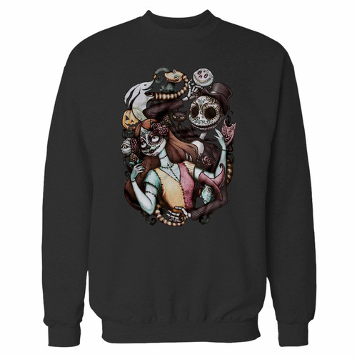 Your nightmare before christmas crewneck sweatshirt just got an update. This super comfortable and lighter weight crewneck will become your favorite go-to sweatshirt. The cozy spandex cuffs and waistband make this pill-resistant sweatshirt a fan favorite.And your group will look and feel their best in this premium ringspun cotton crew.