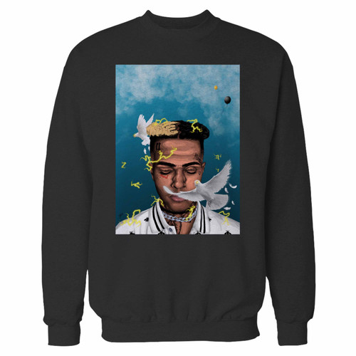 Your xxxtentacion remembrance crewneck sweatshirt just got an update. This super comfortable and lighter weight crewneck will become your favorite go-to sweatshirt. The cozy spandex cuffs and waistband make this pill-resistant sweatshirt a fan favorite.And your group will look and feel their best in this premium ringspun cotton crew.