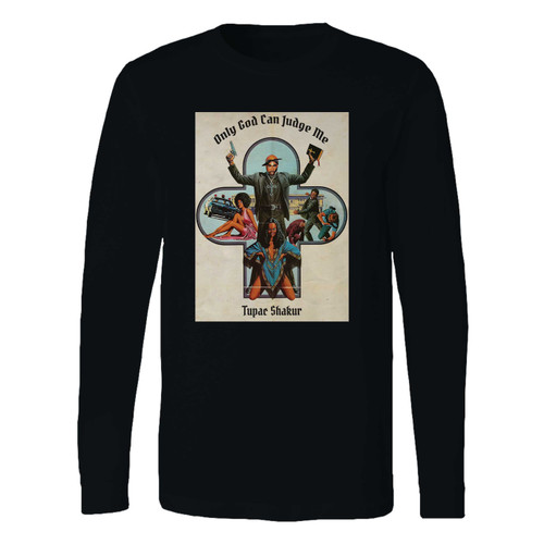 This classic fit 2pac only god can judge me long sleeve shirt is casually elegant and very comfortable. With fine quality print to make one stand out, it's a perfect fit for every occasion.