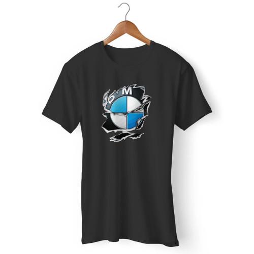 Bmw Torn 2 Ripped Logo Car Langarm Men T Shirt