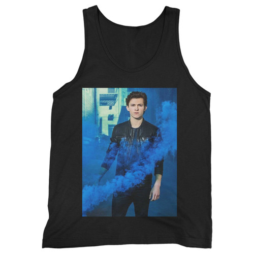 Our cotton tom holland smoke blue men tank top is perfect for those intense workouts in the gym, at practice or pickup games.