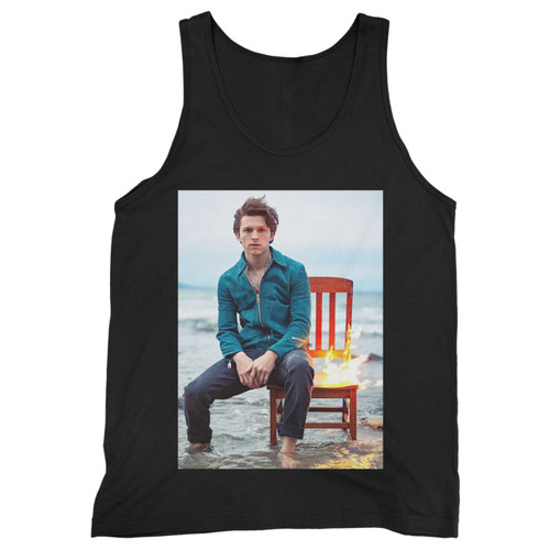 Our cotton tom holland's sexy photo shoot men tank top is perfect for those intense workouts in the gym, at practice or pickup games.