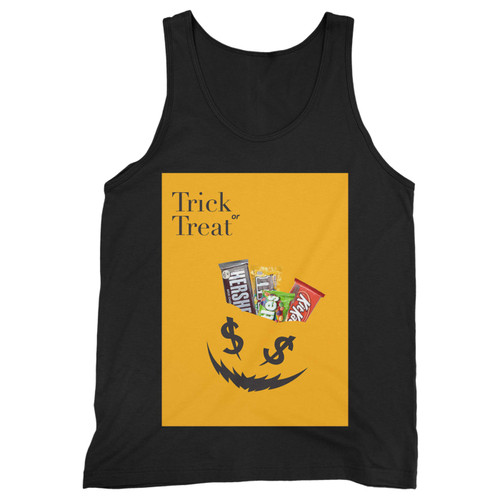Our cotton trick or treat men tank top is perfect for those intense workouts in the gym, at practice or pickup games.