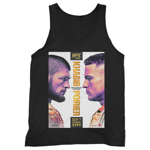 Our cotton ufc 242 khabib vs poirier men tank top is perfect for those intense workouts in the gym, at practice or pickup games.