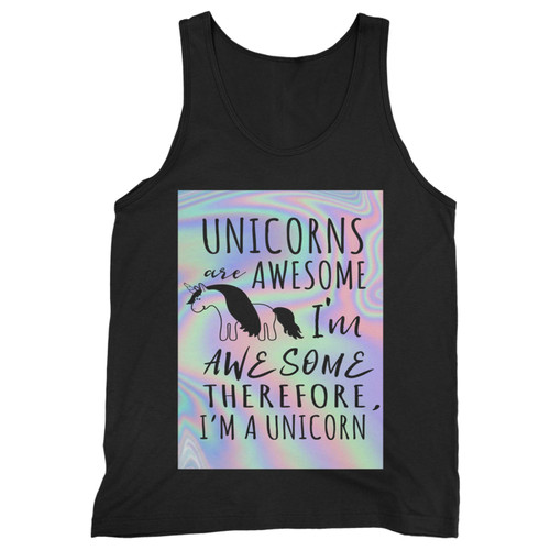 Our cotton unicorn metalic quote men tank top is perfect for those intense workouts in the gym, at practice or pickup games.